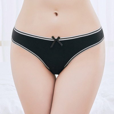 Yunmengni foreign trade women underwear pure color women's 100% cotton briefs Chile Russian source of women's trousers