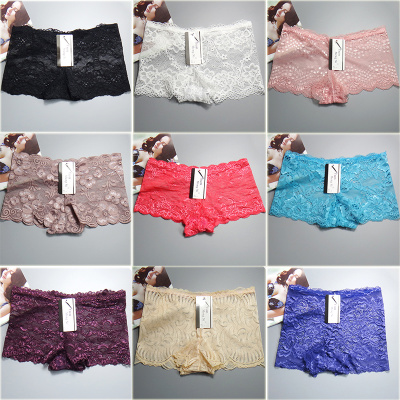 Foreign trade ladies lace boxer shorts inventory underwear sexy lace inventory ladies underwear