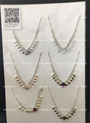 European and American personality fashion item decorated creative diamond necklace exaggerated women's clavicle chain