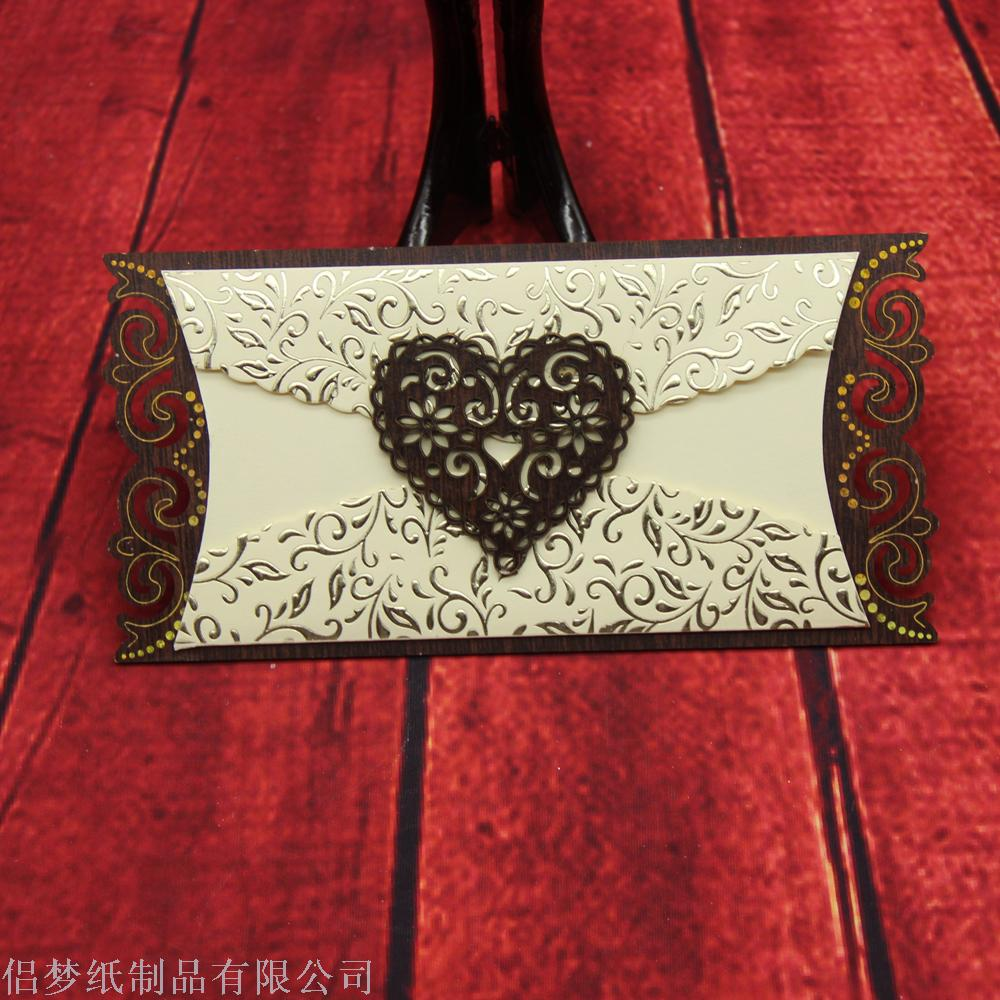 Supply Yiwu Factory High Grade Wooden Greeting Card