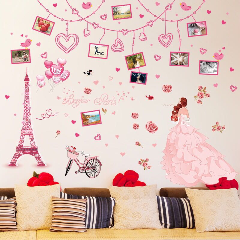 Supply Extra Large 3 D Wall Stickers Cartoon Becomes Bedroom