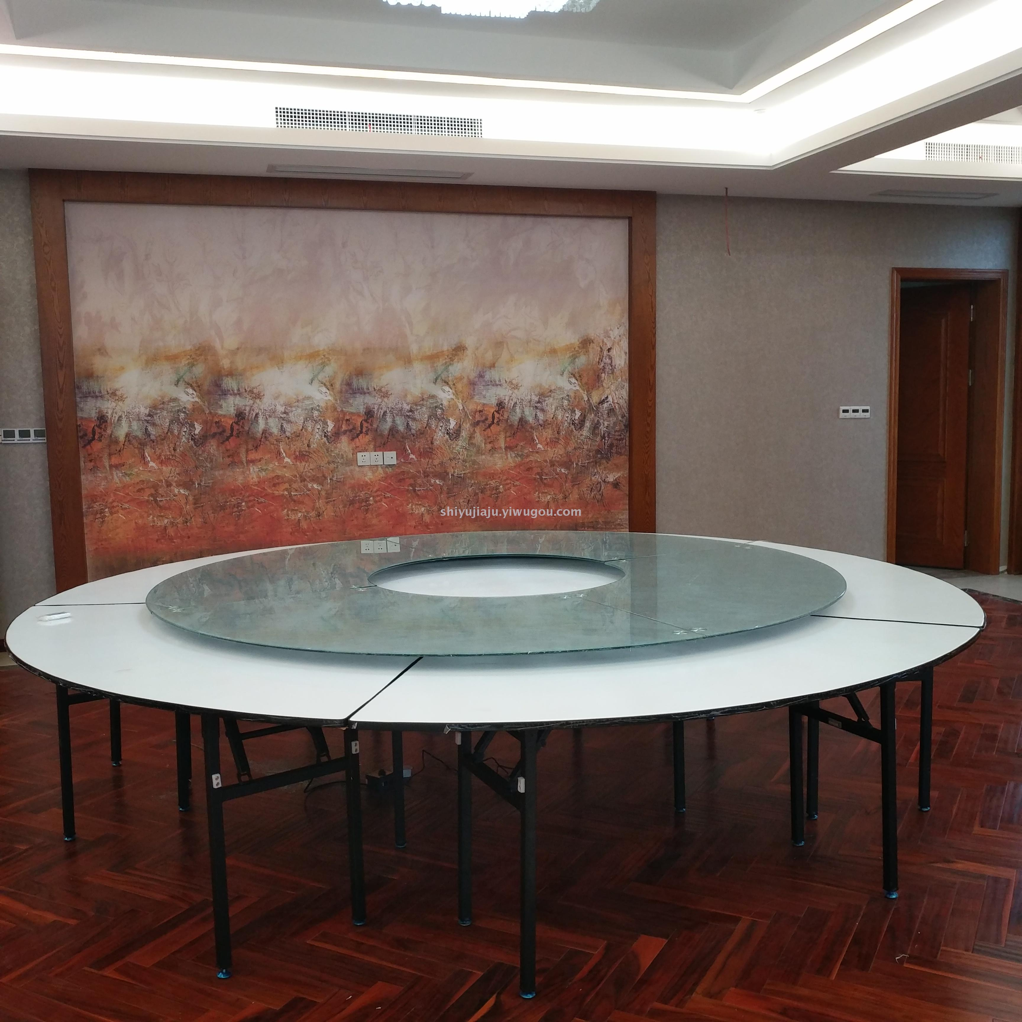 Hefei Hotel Box Dining Table And Chair Club Luxurious Electric Table Villa  Remote Control Electric Revolving
