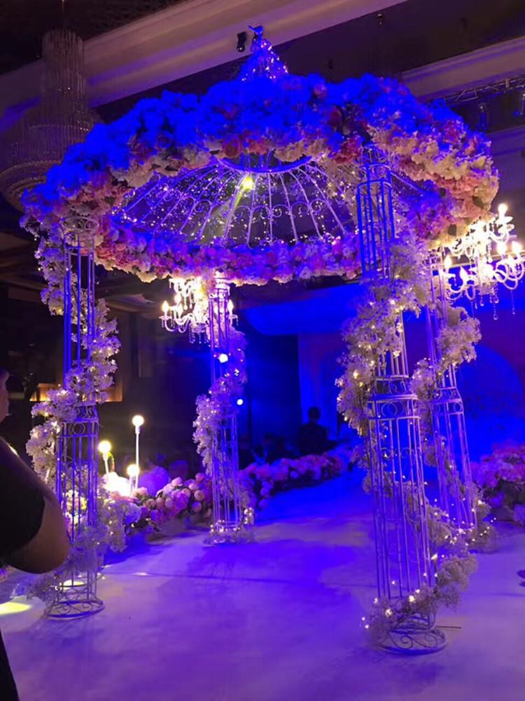 欧式铁艺蒙古包式舞台婚礼花亭 仪式亭 摄影道具摆件