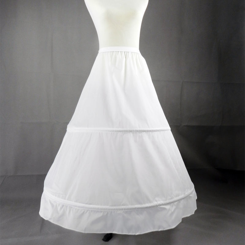 Supply The Bride S Wedding Dress Is Worn With A Chondrous Skirt