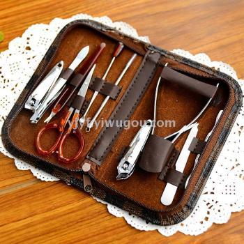 修甲美甲套装10件套美容套指甲刀修脚工具