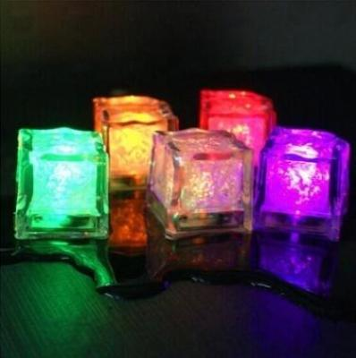 Supply Luminous ice LED fluorescent block 7 color flash ice flash
