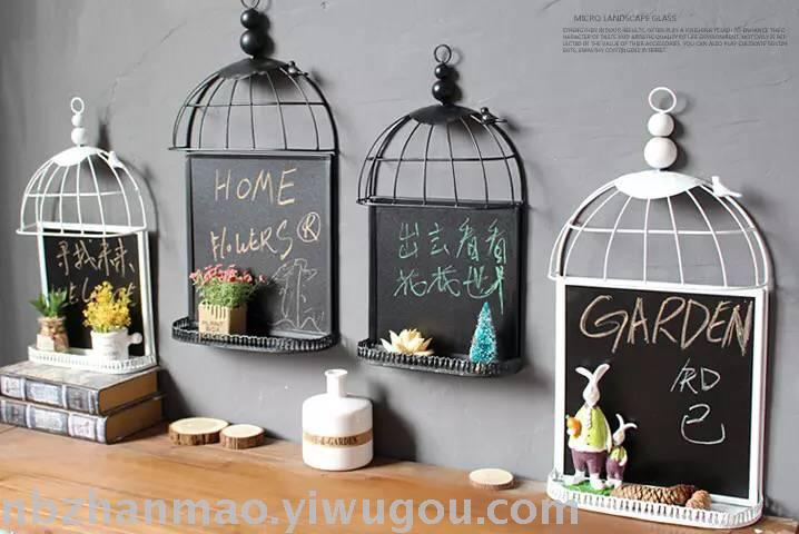 Supply Tieyi birdcage blackboard three-dimensional wall decoration ...