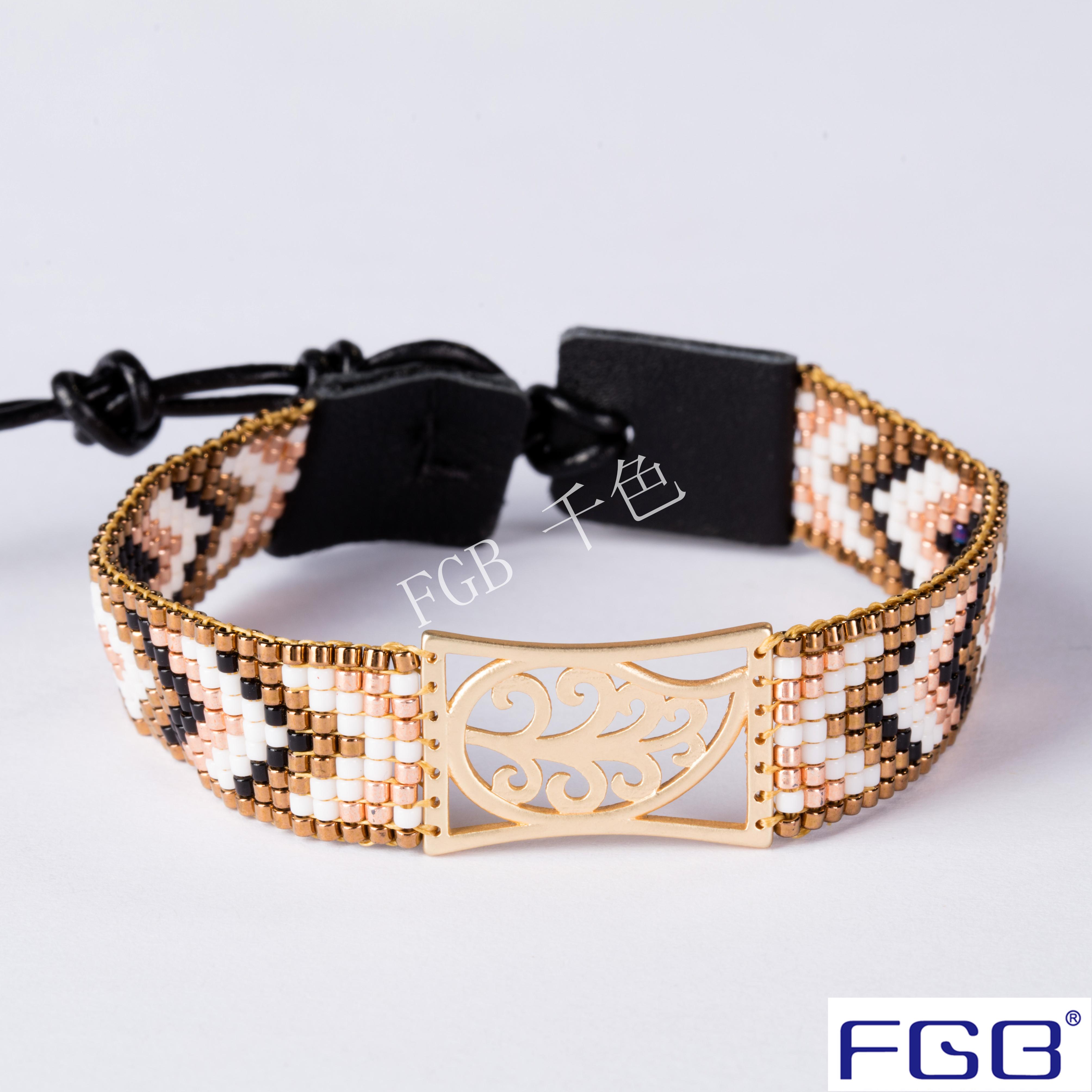 进口玻璃米珠diy串珠编织手链铜饰配件