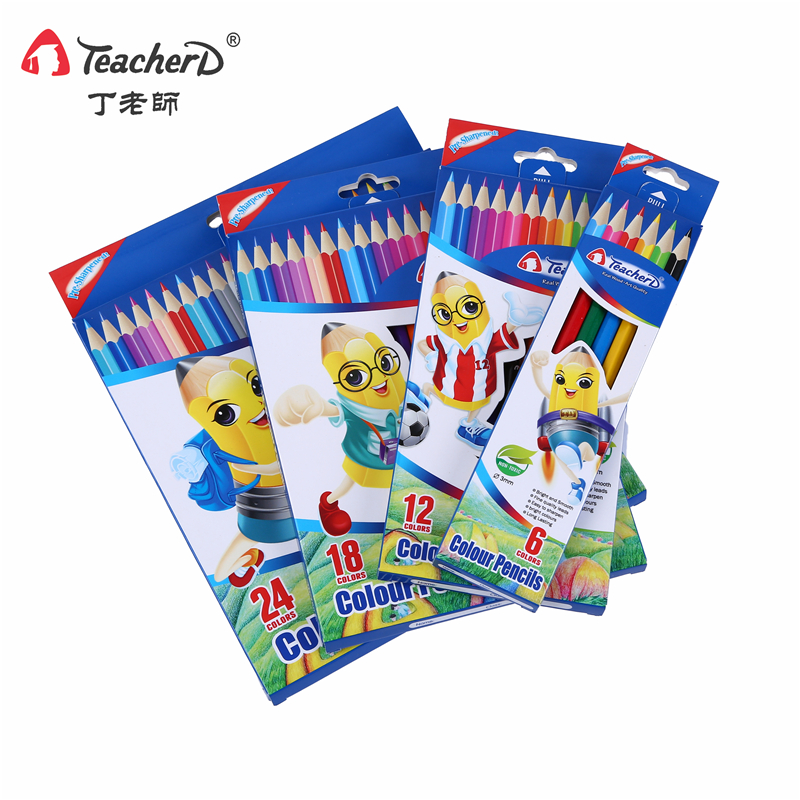 teacher ding pencils 6 colors 12 colors 18 colors and 24 colors