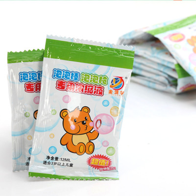 20ml western sword professional concentrated bubble liquid bag with 12ml bubble camera blowing