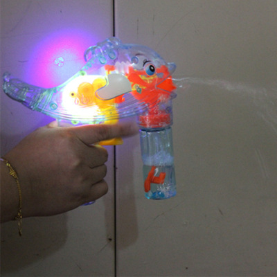 Cross-border children bubble water dolphin bubble gun luminescent inertial blowing bubbles toys