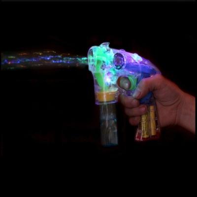 Transparent automatic bubble gun with lighting music bubble toys