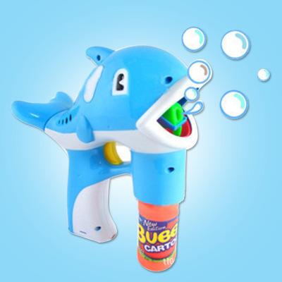Double - wei BBB 0 automatic music light dolphin bubble gun
