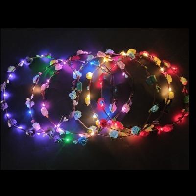 Manufacturers direct Led lighting with headband headband hair ornaments Hawaii flash garland