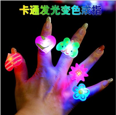 Children light up the soft rubber ring light spread toys children gifts