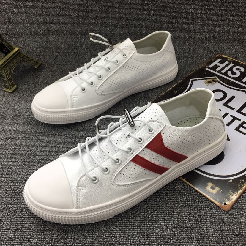 43ed14fbec 2018 summer new men s shoes perforation in Beijing small white shoes Korean  version of the trend