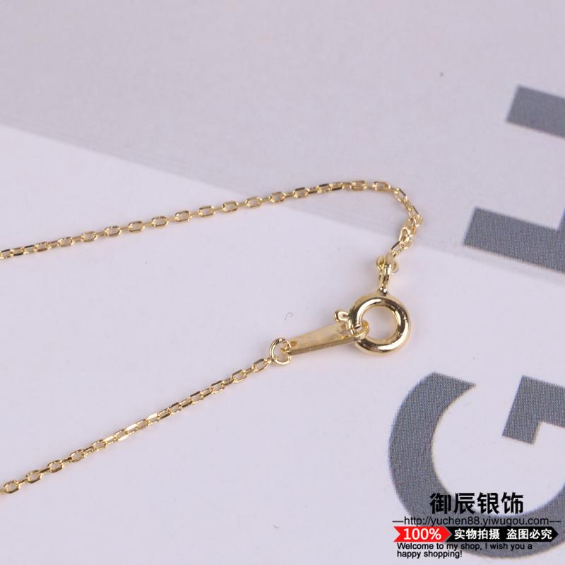 月牙形925银锁骨链 小清新可爱甜美银饰品首饰