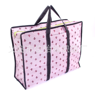 Cargo bags available in stock student moving bags luggage bags 52*40*20 printed hand woven bags