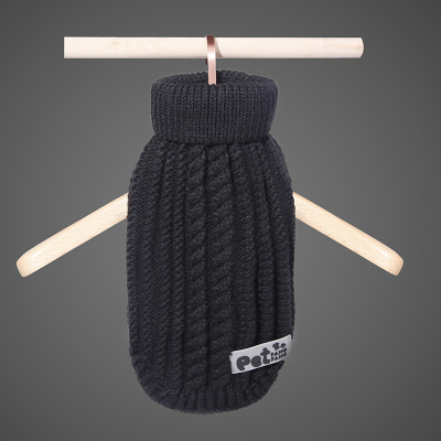 Manufacturers direct autumn and winter thickening pet clothing acrylic dog line coat cat and dog two - legged sweater