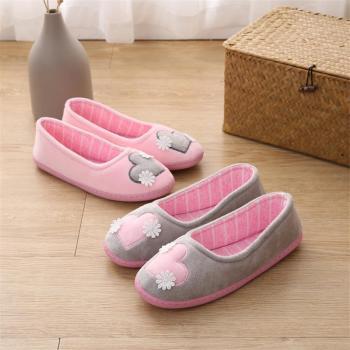 新款包根产后室内防滑秋冬薄款软底家居室内保暖棉鞋月子鞋