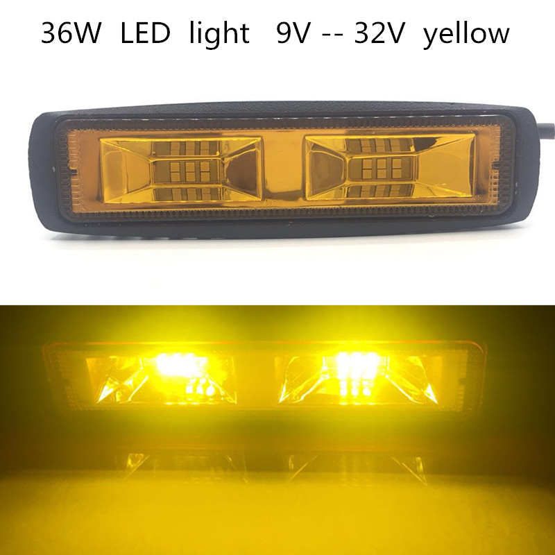 supply automobile led auxiliary lighting 36w high power yellow light