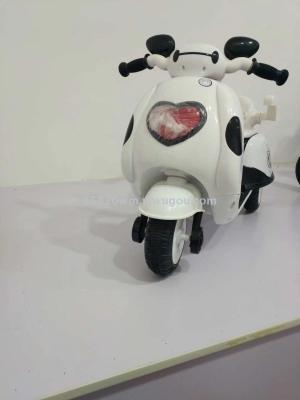 Children's electric tricycle white battery  luminescent novelty toys