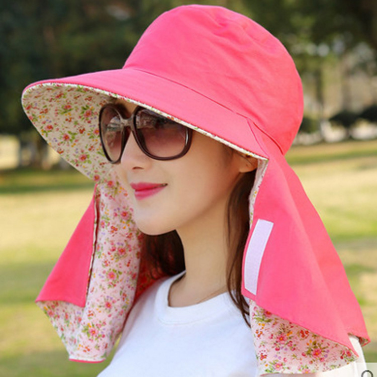 Summer women sun protection hats outdoor uv protection face folding  electric car hats 503cde5fcaf