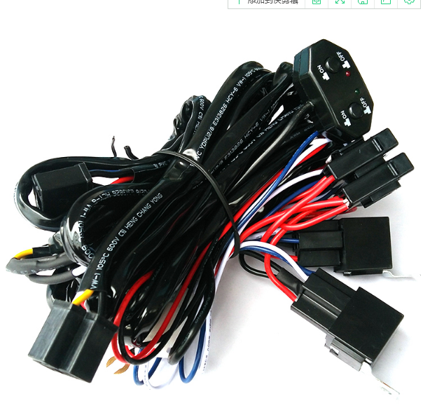 supply automotive wire harness led high power relay wire harness