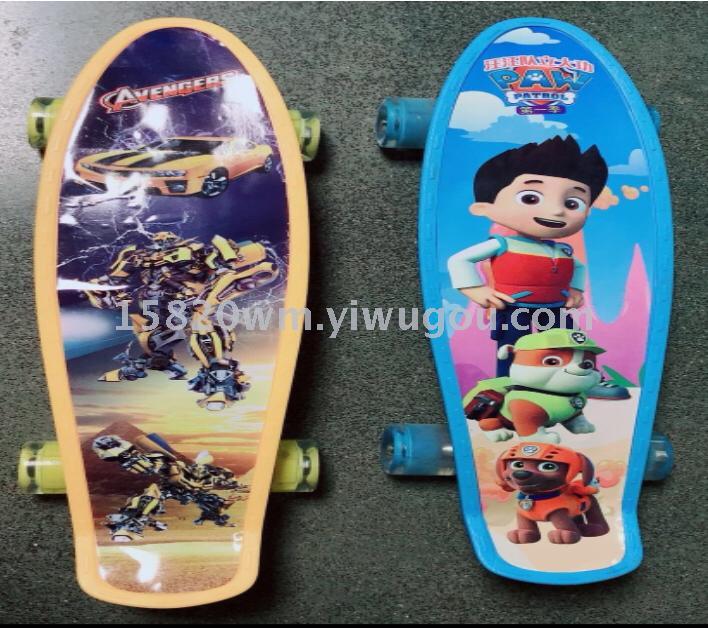 supply skateboard scooter kids yo yo flash pu skateboard big fish