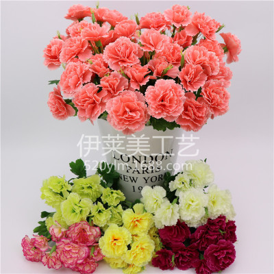 Supply simulation of artificial carnation simulation of artificial simulation of artificial carnation simulation of artificial flower silk flowers home floral arrangements for mothers day mightylinksfo