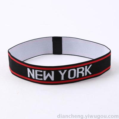 The NEWYORK letter sports elastic headband