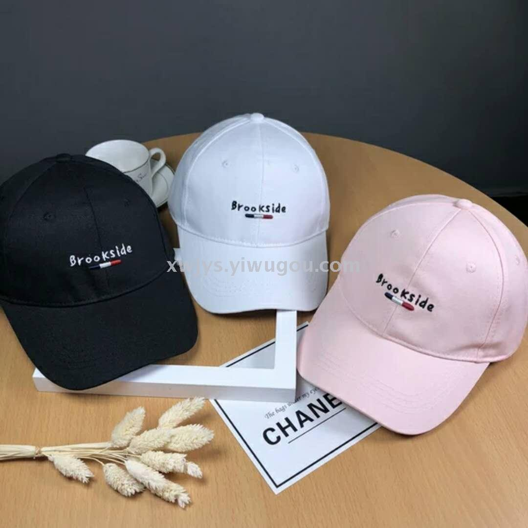 600e73b079a35 New style simple letter embroidery fashionable style baseball cap  personality men and women sun - proof cap