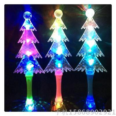 led christmas tree with ball shining stick christmas tree stick 5 lights transparent flashing stick christmas