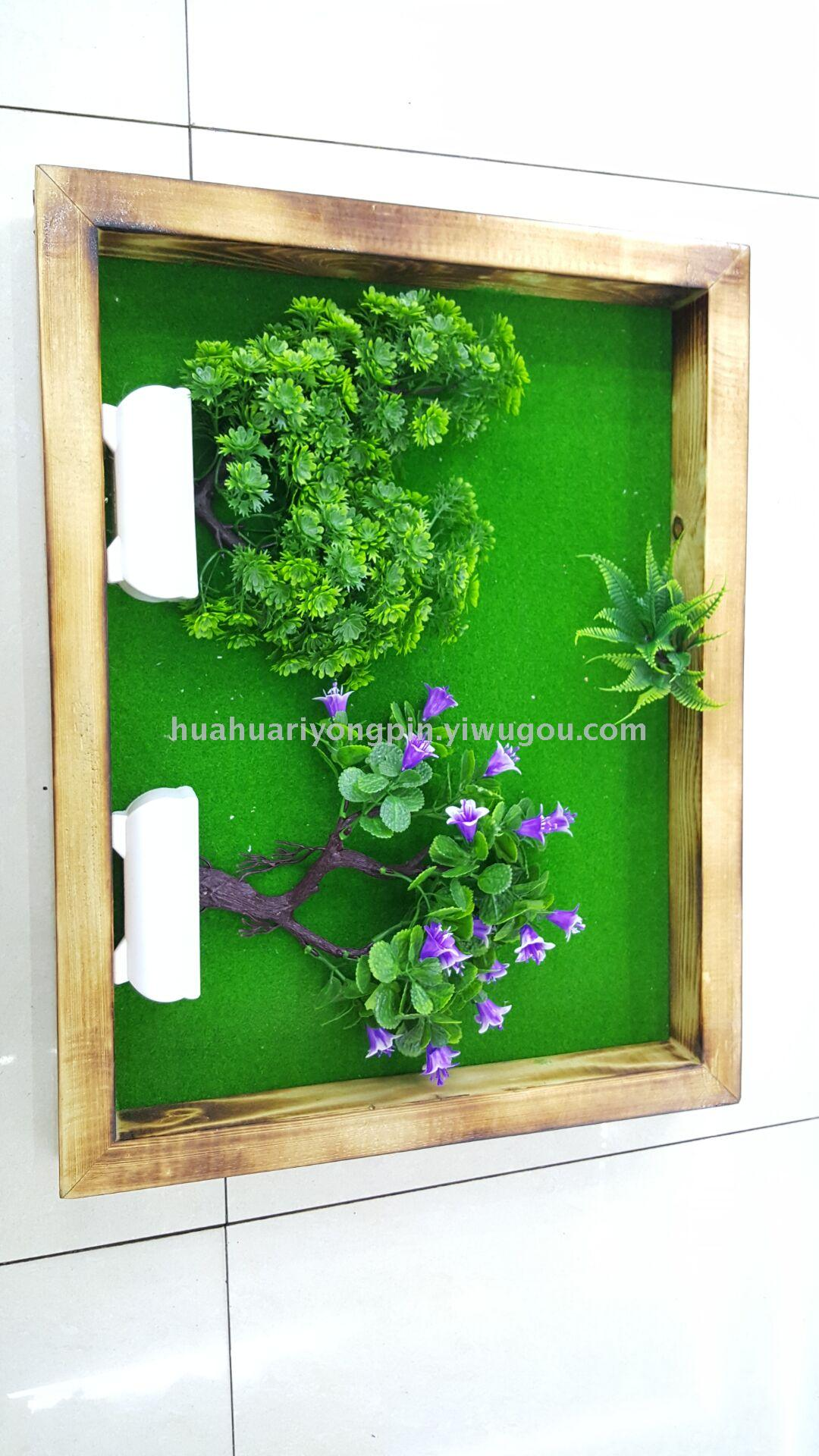 Supply New Wall Decoration Items Simulation Plant Wall Hanging Bonsai Wood Flowers Frame Flowers