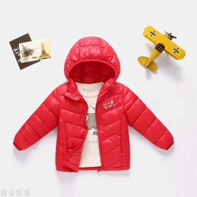 Red mud rabbit 2018 yiwu purchase lightweight winter men and girls cotton DKR thermal cotton clothing