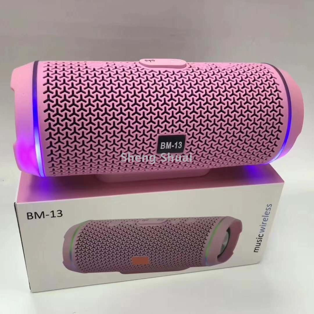 Supply Bm13 Wireless Bluetooth Speaker Outdoor With Led Lamp Hollow Mic Design
