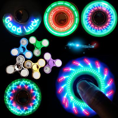 LED fingertip gyro finger gyro electroplate luminescent gyro finger to finger spiral