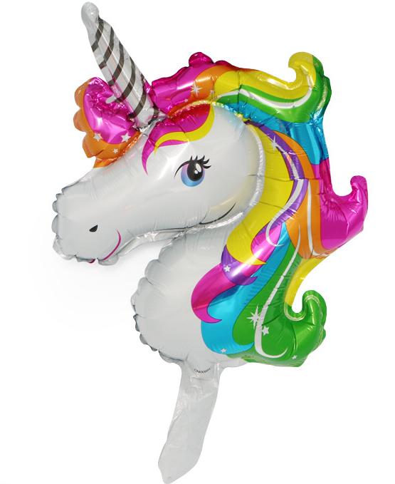 大号卡通宝莉马气球 儿童生日装饰派对迷你独角马独角兽铝膜气球