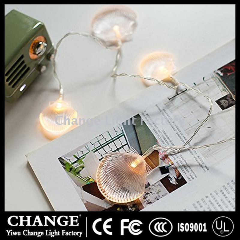 seashells string led christmas lights mediterranean style rooms decorated with festive decorations