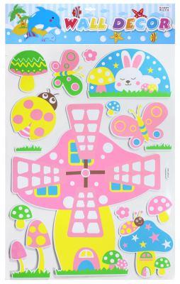 EVA3D three-dimensional children's cartoon sticker wall paste, indoor decoration paste