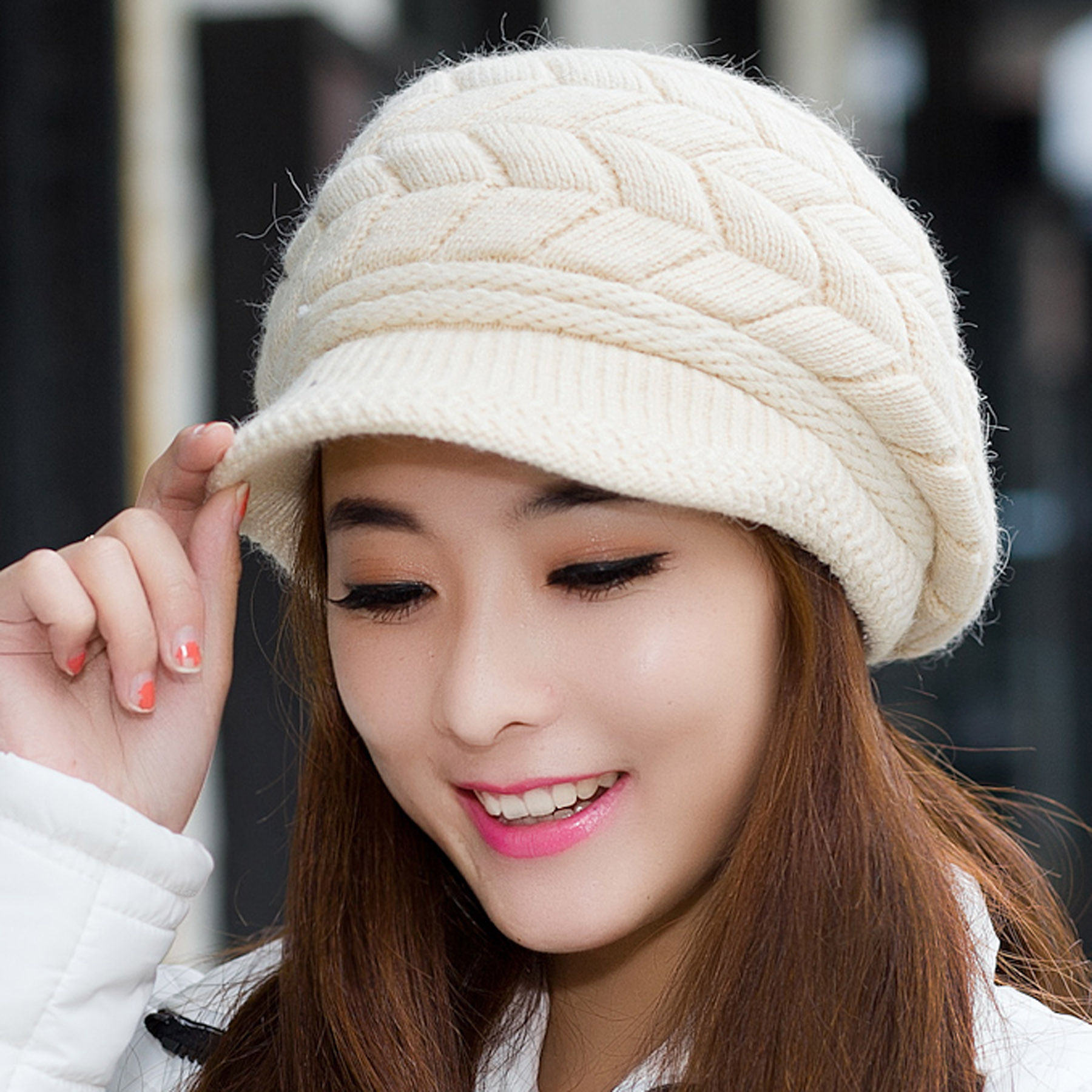 Supply New hat autumn winter day han version of rabbit hair wool hat ... 08a07e043bb