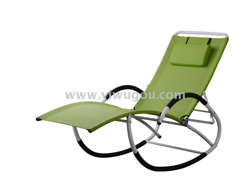 ... Steel G Style Rocking Beach Chair, The Beach Lounge Made Of Steel Pipes  With Textile, Suitbale For Beach, Hotel, And Garden.
