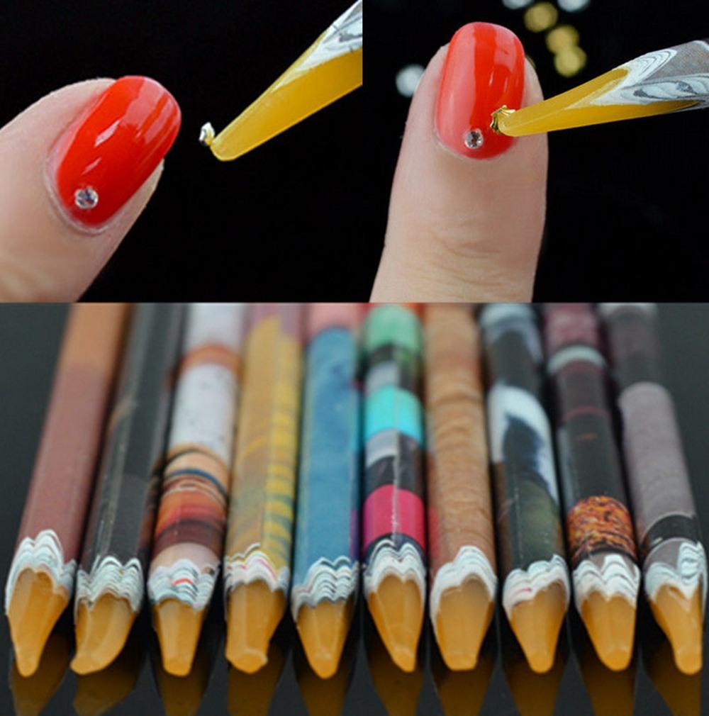 Supply 1pc Crayon Wax Dotting Pen Pencil Nail Art Tools Self