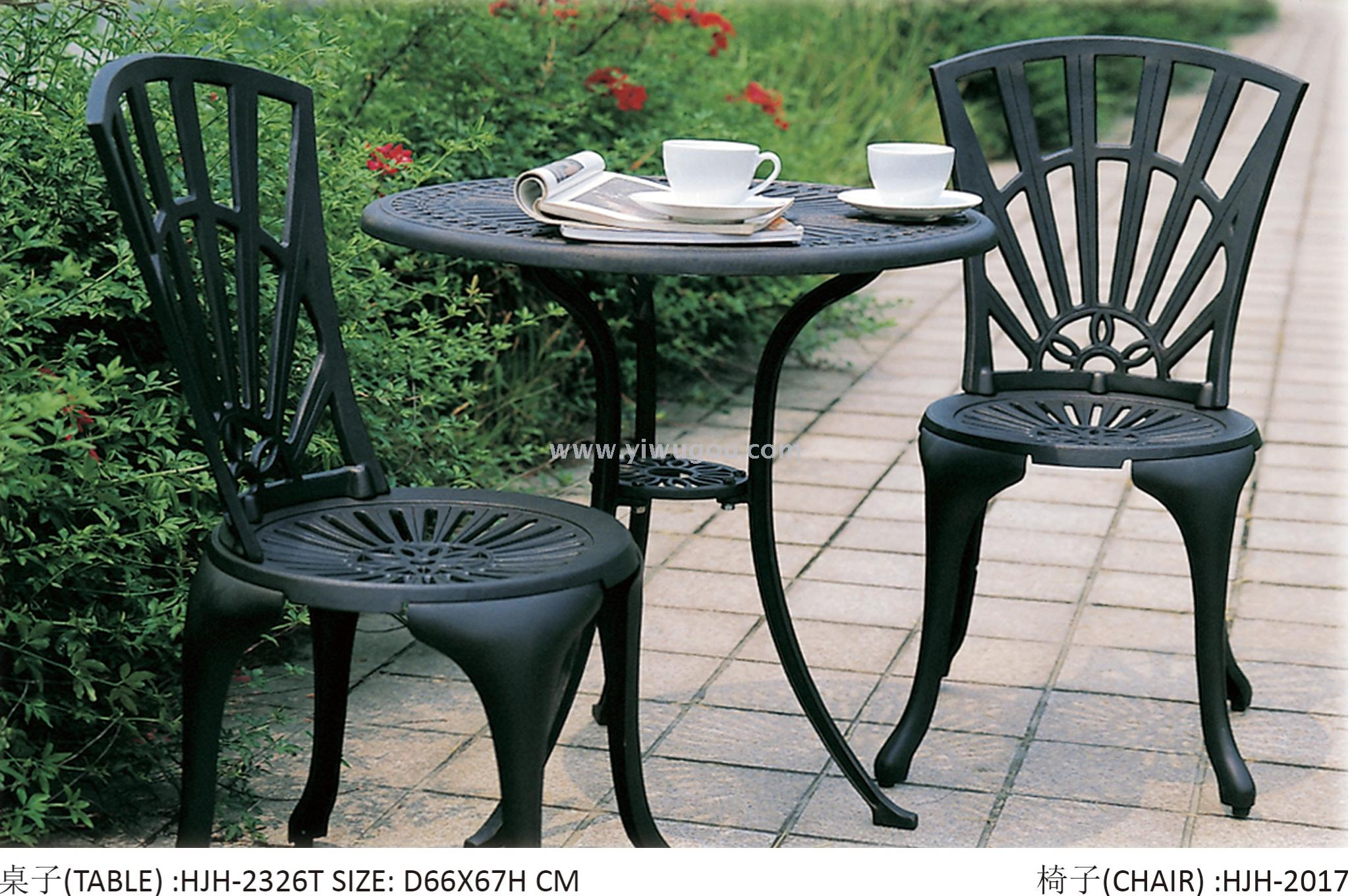 Supply european american style outdoor tea table garden table and chair set 3 pieces hotel table and chair outdoor coffee table