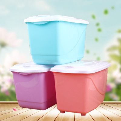 Multi - functional plastic rice barrel surface kitchen insect - proof, moisture - proof and thickened sealed with lid