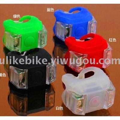 Mountain bike six generations of two-eye silicone warning frog lamp bicycle taillight cushion lamp