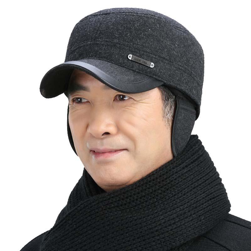 d4d7d54c507 Old man s hat winter father s hat winter Old man s hat winter warm and  thickening grandpa s cap