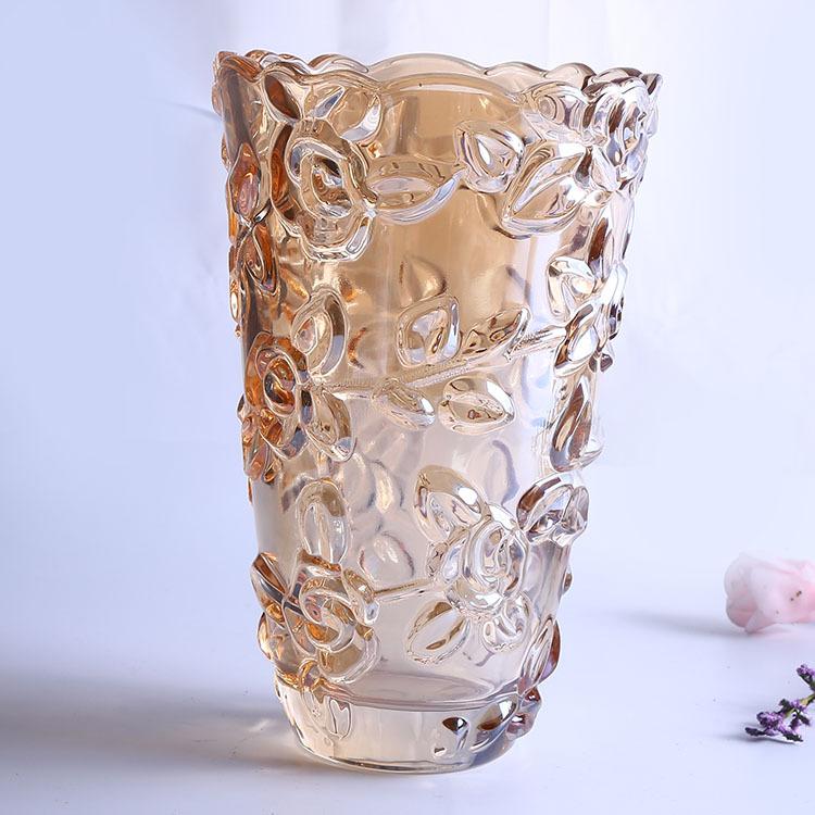 Supply Creative Crystal Vase 25 Cm Rose Vase Simple Glass Vase Water
