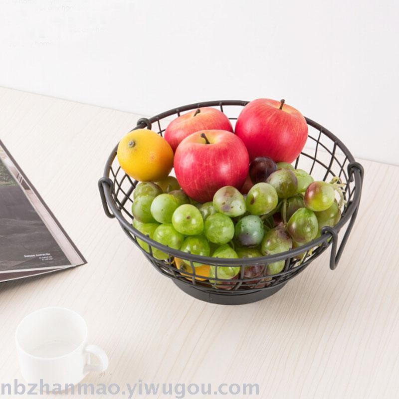 supply nordic wind iron art fruit basket sitting room receives