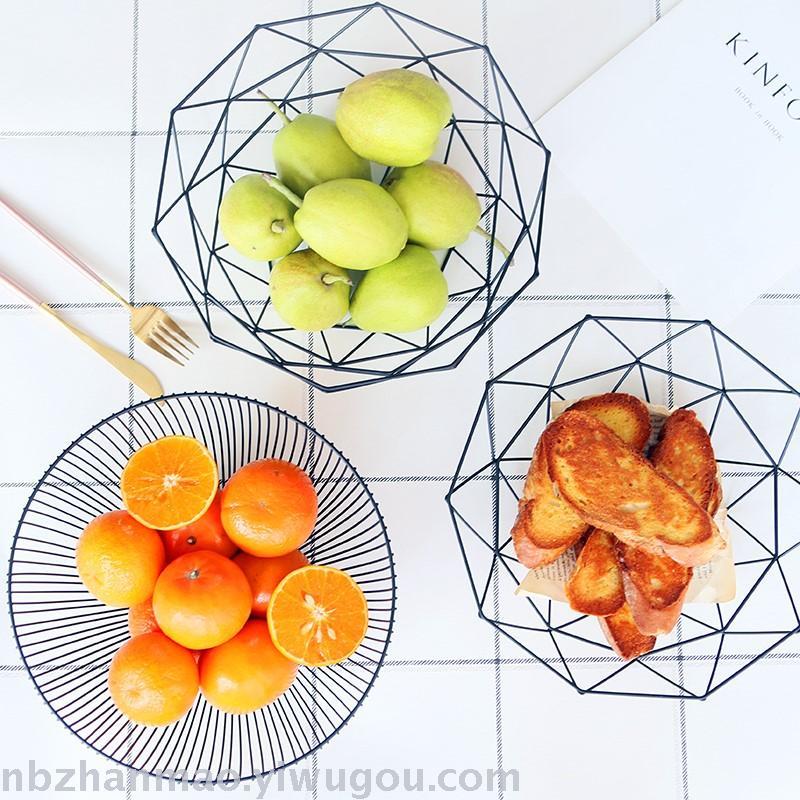 supply nordic style simple iron art fruit basket fruit plate modern